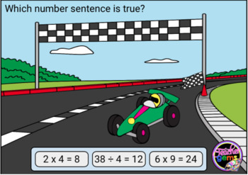 True and False Equations Multiplication and Division Digital Boom Cards Set 3