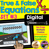 True and False Equations Multiplication and Division Digit