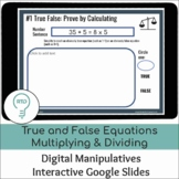 True and False Equations Multiplying and Dividing Whole Nu