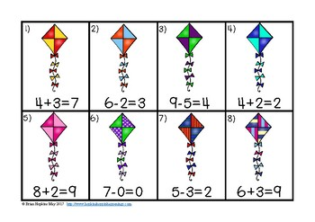 True and False Equations and the Equal Sign Kites Task Cards