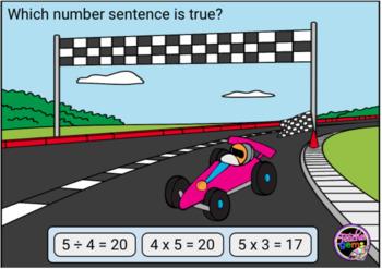 True and False Equations Multiplication and Division Digital Boom Cards Set 1