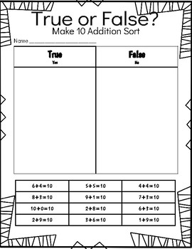 True and False addition sort