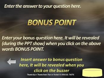 PowerPoint Template - True or False
