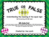 True or False 1.OA.7 Understanding the equal sign w/without QR Code