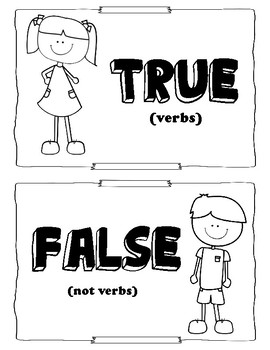 True or False: Action Verbs Practice