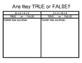 True or False Activity