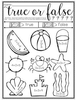 True or False - Addition