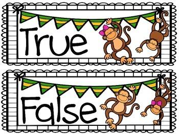 True or False Addition Activity