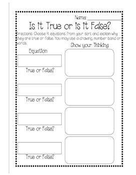 True or False? {Addition & Subtraction Turkey Edition} Lap Book