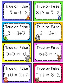 True or False: Addition & Subtraction to 20