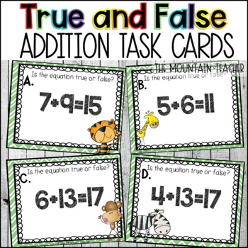 True or False Addition and Subtraction Problems