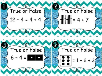 True or False Addition and Subtraction Scoot