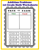 True or False Addition for First Grade
