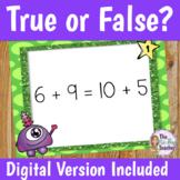 True False Equations Activities and Worksheets