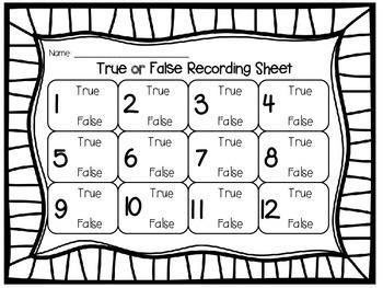 True or False: Comparing 3 Digit Numbers