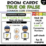 True or False? Comparing Numbers to 20 for Boom Cards™