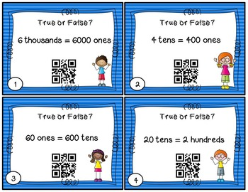 Converting Between Place Values with QR Codes