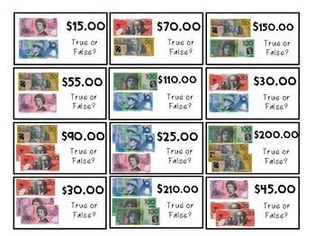 True or False Dash- Australian Money Edition