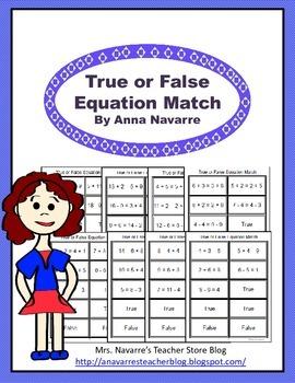 True or False Equation Match