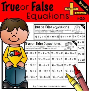 True or False Equations Addition and Subtraction Bundle
