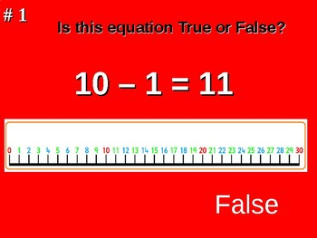 True or False Equations PowerPoint Presentation 1.0A.7