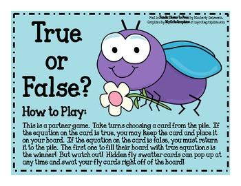 True or False Fly Equations