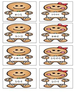 True or False Gingerbread  Addition & Subtraction