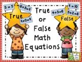 Equations - True or False