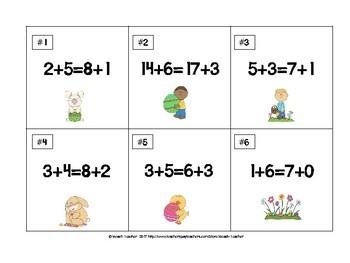 Easter Themed True or False Math Equations Challenge 1.OA.7