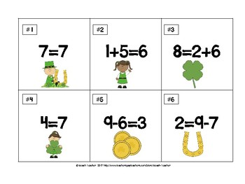 True or False Math Equations (St. Patrick's Day Themed)