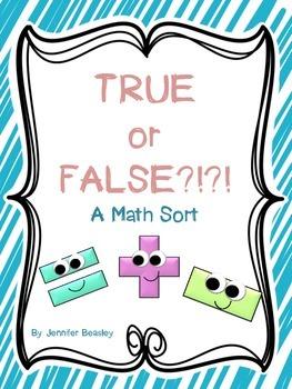 True or False-Math Sort FREEBIE