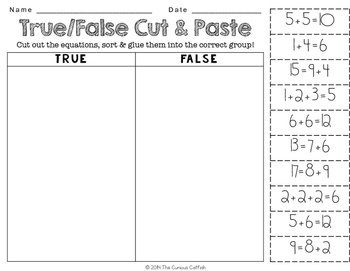 True or False: Meaning of the Equal Sign