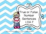 True or False Number Sentences