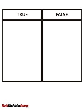 True or False Place Value Game