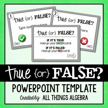 PowerPoint Activity Template: True or False