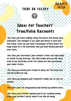 True or False Recount