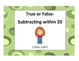True or False Subtraction for Common Cores