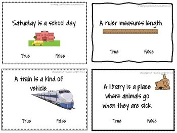 True or False? {Task Cards}