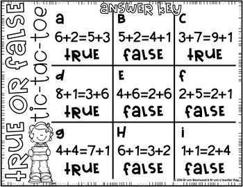 True or False Equations-Addition Activities