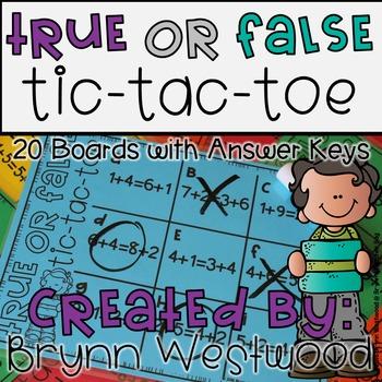 True or False Tic-Tac-Toe