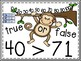 True or False on the Place Value Monkey Vine