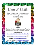 True or Trash Common Core Math Number Bonds Game