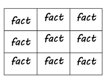 True or false cards- Fact or Fib game