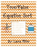 True/False Equation Sort