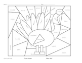 True/False Equations: Understand the meaning of the equal sign: Color a Turkey
