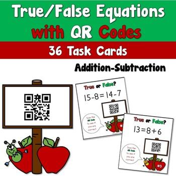 True or False Equations with QR Codes