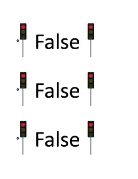 True/???/False Response Cards