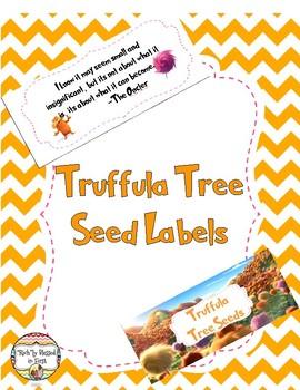 Truffula Seed Bag Labels