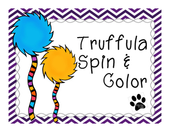 The Lorax's Truffula Spin & Color Math Pages {Dr. Seuss}