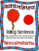 Truffula Tree 4 sentence posters  (The Lorax Dr. Seuss)